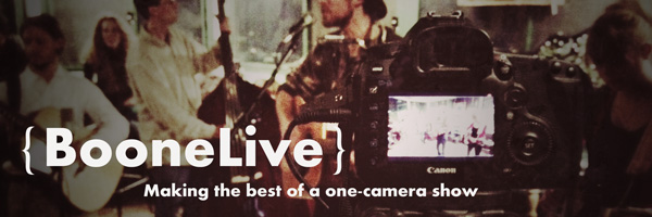 One Camera Live Music Recording